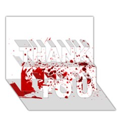 Blood Splatter 1 THANK YOU 3D Greeting Card (7x5)