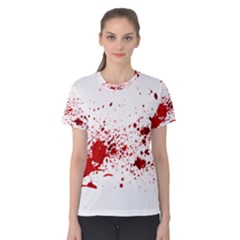 Blood Splatter 1 Women s Cotton Tees