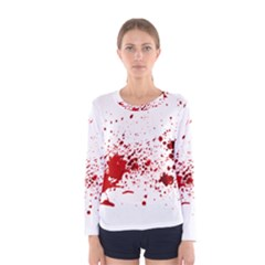 Blood Splatter 1 Women s Long Sleeve T-shirts