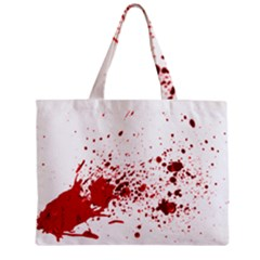Blood Splatter 1 Zipper Tiny Tote Bags