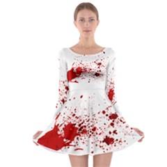 Blood Splatter 1 Long Sleeve Skater Dress
