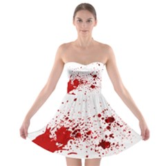 Blood Splatter 1 Strapless Bra Top Dress