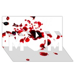 Blood Splatter 2 MOM 3D Greeting Card (8x4)
