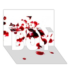 Blood Splatter 2 BOY 3D Greeting Card (7x5)