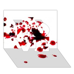 Blood Splatter 2 Love 3d Greeting Card (7x5)