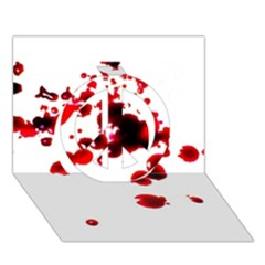 Blood Splatter 2 Peace Sign 3D Greeting Card (7x5)