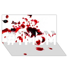 Blood Splatter 2 #1 MOM 3D Greeting Cards (8x4)