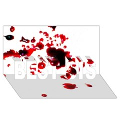 Blood Splatter 2 BEST SIS 3D Greeting Card (8x4)