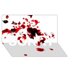 Blood Splatter 2 SORRY 3D Greeting Card (8x4)