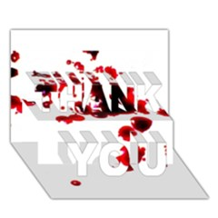Blood Splatter 2 THANK YOU 3D Greeting Card (7x5)