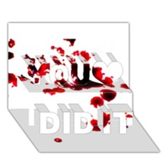 Blood Splatter 2 You Did It 3D Greeting Card (7x5)