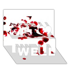 Blood Splatter 2 Get Well 3d Greeting Card (7x5)