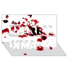 Blood Splatter 2 Merry Xmas 3D Greeting Card (8x4)