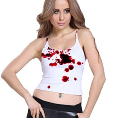 Blood Splatter 2 Spaghetti Strap Bra Tops