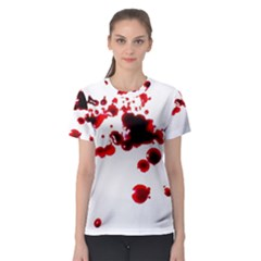 Blood Splatter 2 Women s Sport Mesh Tees