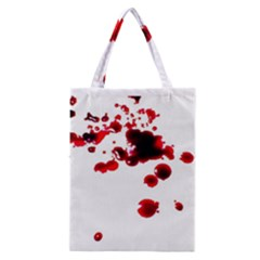 Blood Splatter 2 Classic Tote Bags