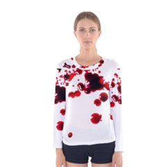 Blood Splatter 2 Women s Long Sleeve T-shirts