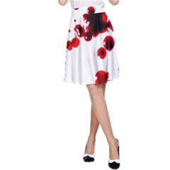 Blood Splatter 2 A Line Skirts