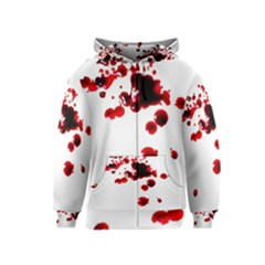 Blood Splatter 2 Kids Zipper Hoodies