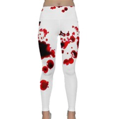 Blood Splatter 2 Yoga Leggings