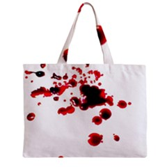 Blood Splatter 2 Zipper Tiny Tote Bags