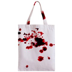 Blood Splatter 2 Zipper Classic Tote Bags