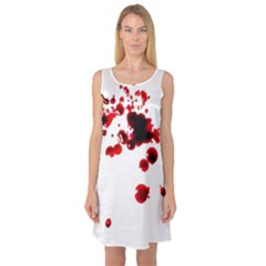 Blood Splatter 2 Sleeveless Satin Nightdresses