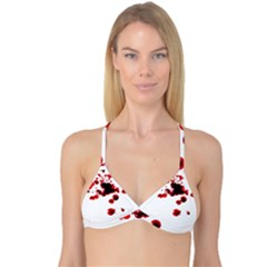 Blood Splatter 2 Reversible Tri Bikini Tops