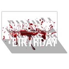 Blood Splatter 3 Happy Birthday 3d Greeting Card (8x4)