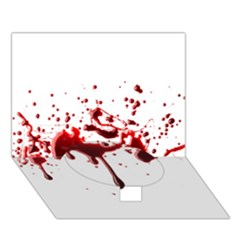 Blood Splatter 3 Circle Bottom 3D Greeting Card (7x5)