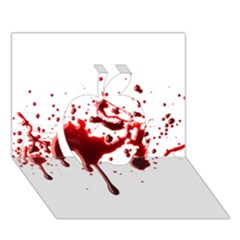 Blood Splatter 3 Apple 3D Greeting Card (7x5)