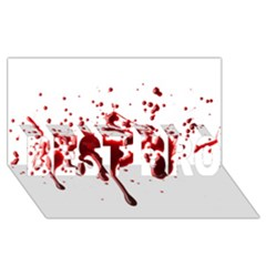 Blood Splatter 3 BEST BRO 3D Greeting Card (8x4)