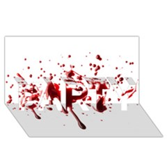 Blood Splatter 3 PARTY 3D Greeting Card (8x4)