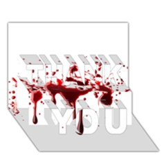 Blood Splatter 3 THANK YOU 3D Greeting Card (7x5)