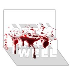 Blood Splatter 3 Get Well 3D Greeting Card (7x5)