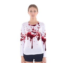 Blood Splatter 3 Women s Long Sleeve T-shirts
