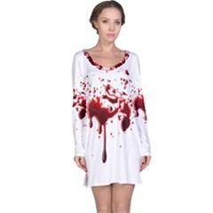 Blood Splatter 3 Long Sleeve Nightdresses