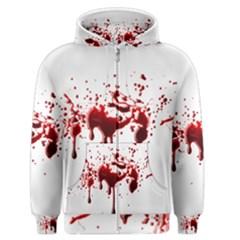 Blood Splatter 3 Men s Zipper Hoodies