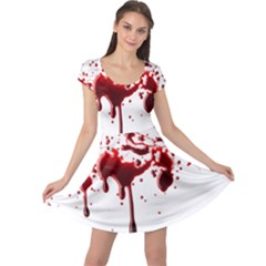 Blood Splatter 3 Cap Sleeve Dresses