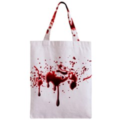 Blood Splatter 3 Zipper Classic Tote Bags