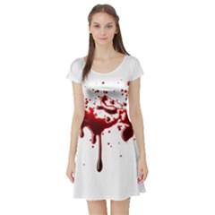Blood Splatter 3 Short Sleeve Skater Dresses