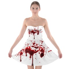Blood Splatter 3 Strapless Bra Top Dress