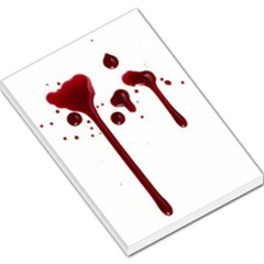 Blood Splatter 4 Large Memo Pads