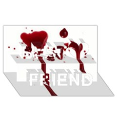 Blood Splatter 4 Best Friends 3D Greeting Card (8x4)