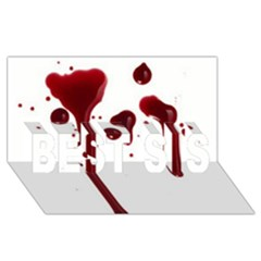 Blood Splatter 4 BEST SIS 3D Greeting Card (8x4)