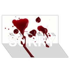 Blood Splatter 4 Sorry 3d Greeting Card (8x4)