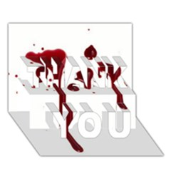 Blood Splatter 4 THANK YOU 3D Greeting Card (7x5)