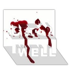 Blood Splatter 4 Get Well 3D Greeting Card (7x5)