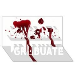 Blood Splatter 4 Congrats Graduate 3D Greeting Card (8x4)