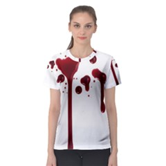 Blood Splatter 4 Women s Sport Mesh Tees